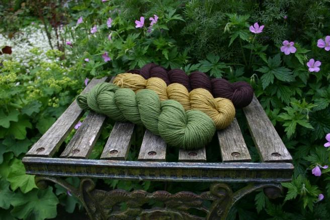 Rosy Green Wool Merino