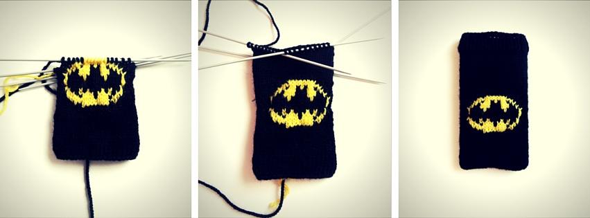 Anleitung Batman Smartphone Hülle Stricken Lisibloggt