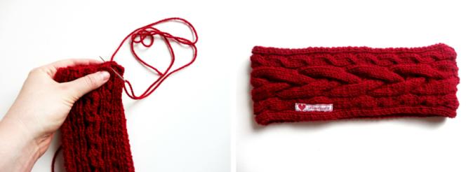 Anleitung: Stirnband mit Zopfmuster stricken   Lisibloggt