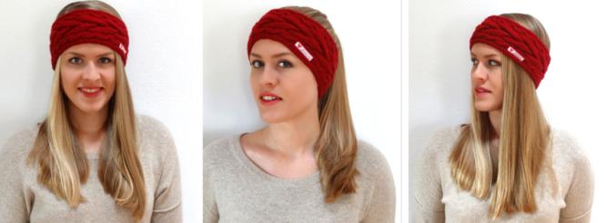 Anleitung: Stirnband mit Zopfmuster stricken | Lisibloggt