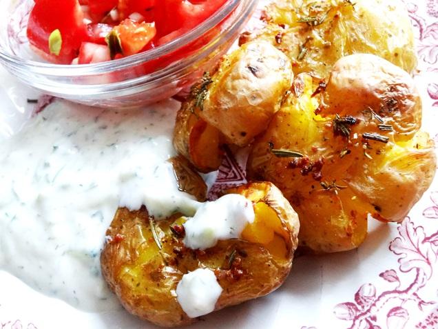 geile ofen kartoffeln tzatziki rezept vegan 13