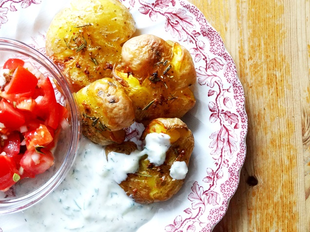 geile ofen kartoffeln tzatziki rezept vegan 15