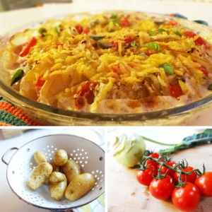 kartoffel kohlrabi tomaten gratin vegan rezept