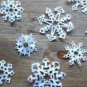 anleitung schneeflocken basteln weihnachten diy