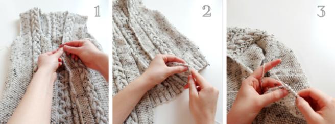 damenjanker stricken kragen und knopfleiste 1