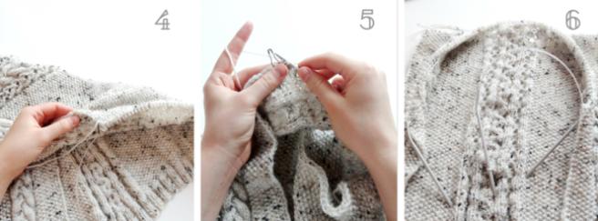 damenjanker stricken kragen und knopfleiste 2