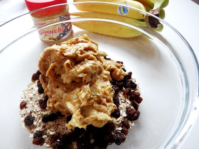 rezept vegan glutenfrei bananen haferflocken chunks erdnussbutter 1