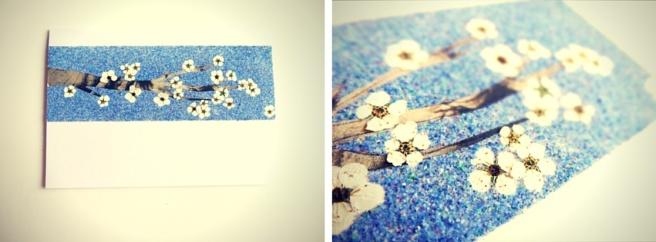 Anleitung: Sandbastelkarten mit getrockneten Blumen
