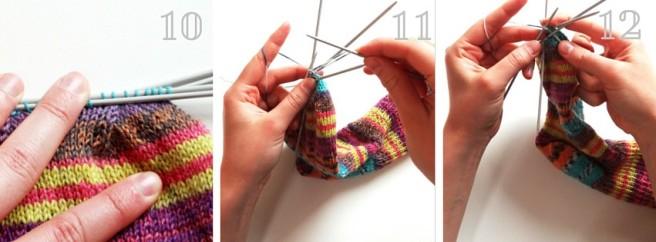 Anleitung: Socken stricken Teil 4 – Mittelteil und Spitze