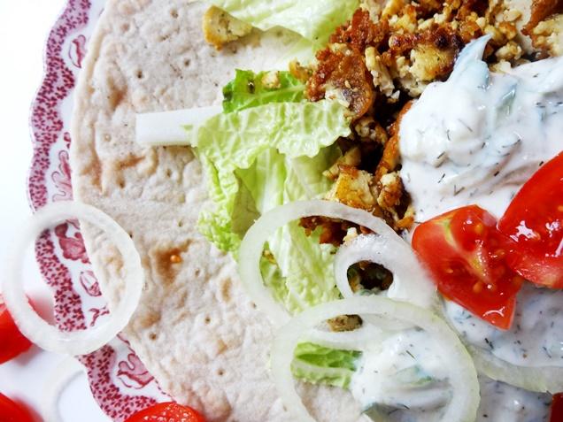 veganer gyros wrap mit tzatziki glutenfrei rezept 6