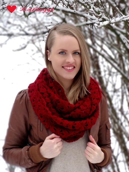 Anleitung: Gehäkelter Loop-Schal mit Muschelmuster