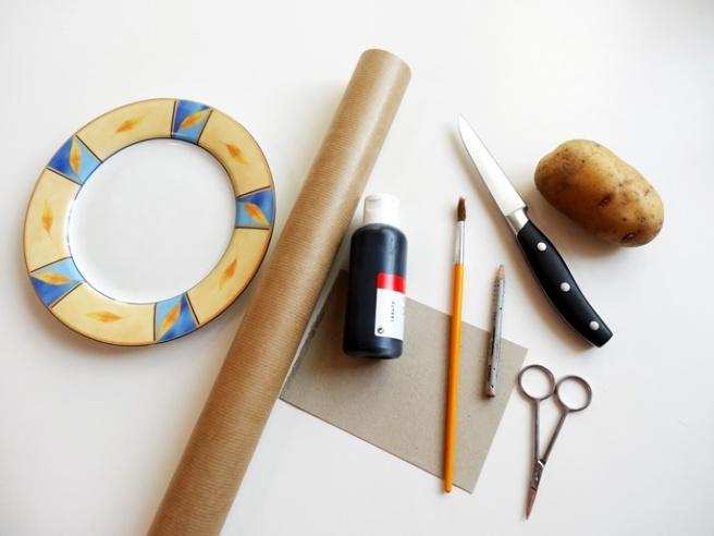 Anleitung: DIY-Geschenkpapier mit Kartoffeldruck