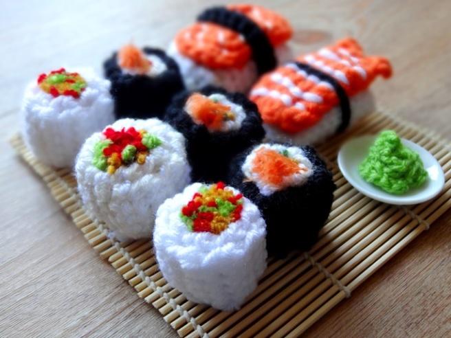 Anleitung: Amigurumi-Sushi häkeln