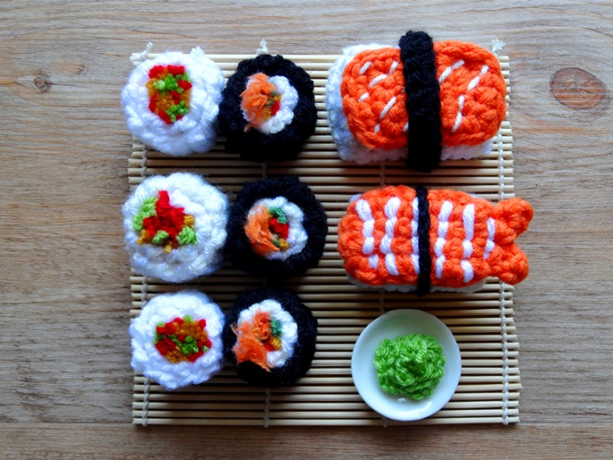 Anleitung: Amigurumi-Sushi hakeln Lisibloggt