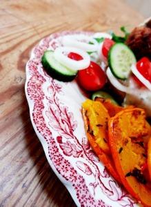 rezept vegane falafel burger kuerbis pommes lisis vegan food 1