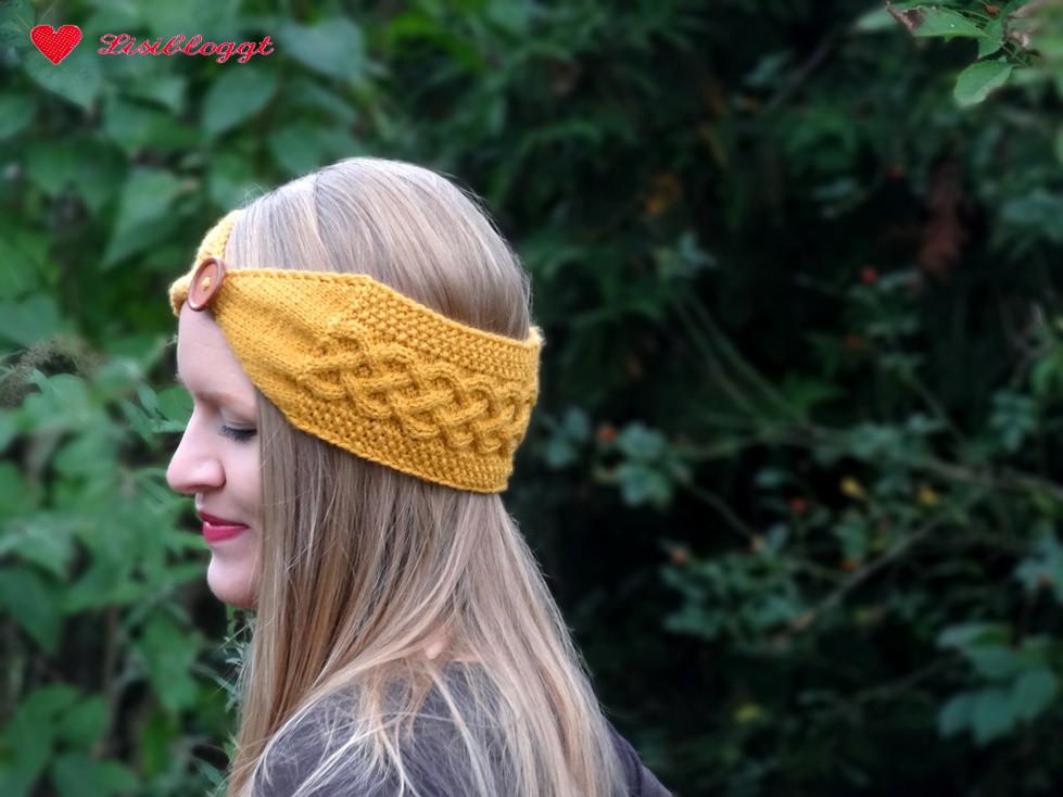 Anleitung: Stirnband mit keltischem Zopfmuster stricken | Lisibloggt