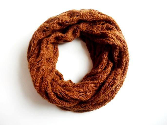 Entdeckung Der Woche Braun Oranger Lace Schal Mit Ajourmuster