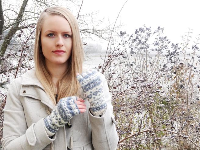 Anleitung: Halbfingerhandschuhe mit Norwegermuster stricken