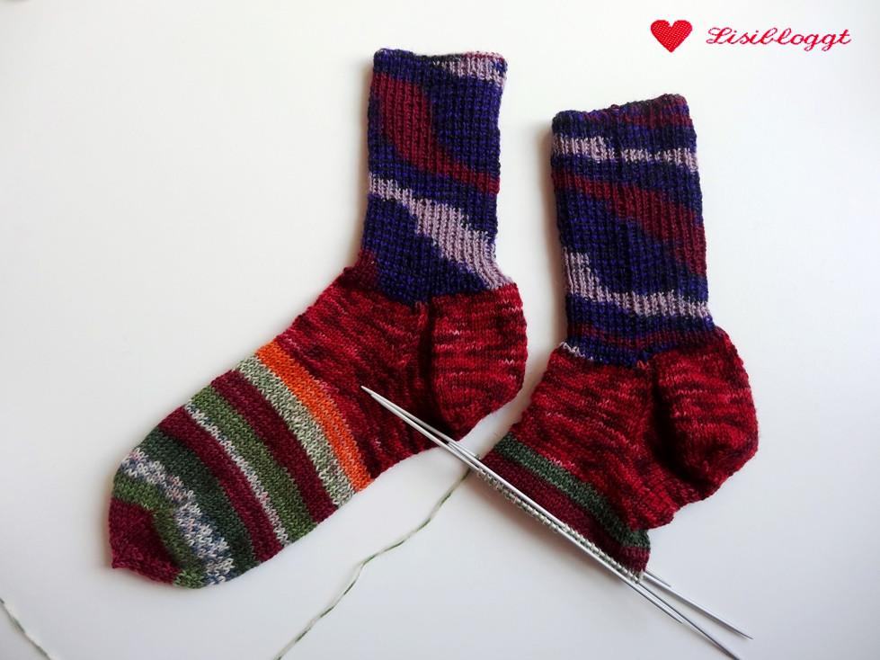 Lisitipps: Reste-Socken mit unsichtbarem Garnwechsel stricken ...