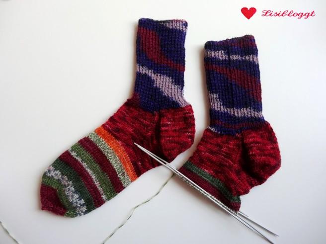 Lisitipps: Reste-Socken mit unsichtbarem Garnwechsel stricken