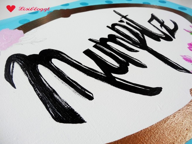 "Anleitung: DIY-Wandbild ""Mumpitz"" mit Acrylfarbe"