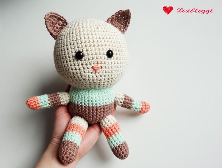 Anleitung: Amigurumi-Kitty aus veganem myboshi-Garn häkeln ...