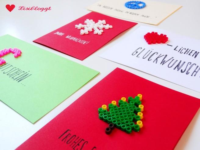 Anleitung: DIY-Grußkarten mit Bügelperlen