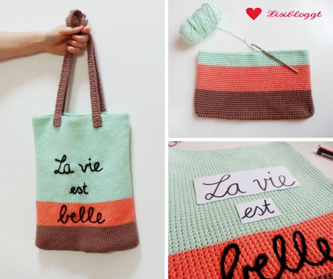 Anleitung: Einfache Häkeltasche aus Baumwoll-Mischgarn
