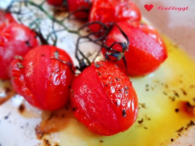 Rezept: Basilikum-Pesto-Nudeln mit Grilltomaten (vegan, glutenfrei)