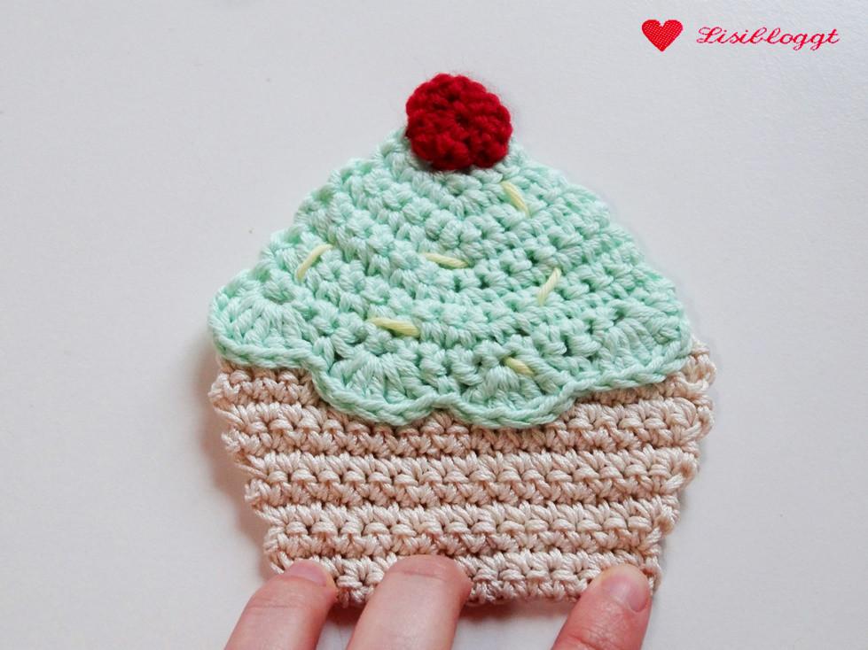 Anleitung: Cupcake-Applikation häkeln | Lisibloggt