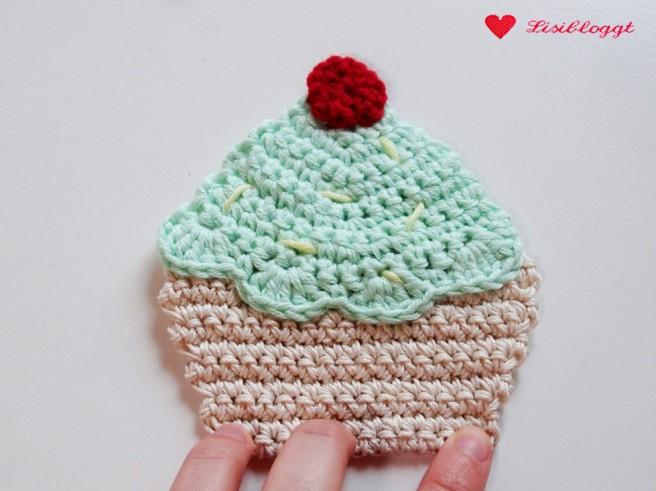 Anleitung: Cupcake-Applikation häkeln