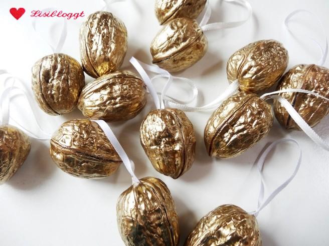 Anleitung: Goldene Weihnachts-Walnüsse