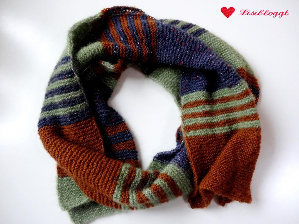 Anleitung: Flauschiger Strick-Schal, gestreift | Lisibloggt