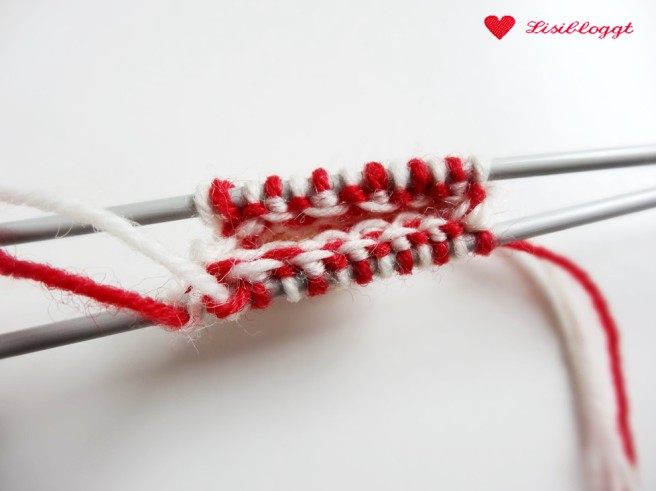 Anleitung: Herz-Anhänger mit Norwegermuster stricken