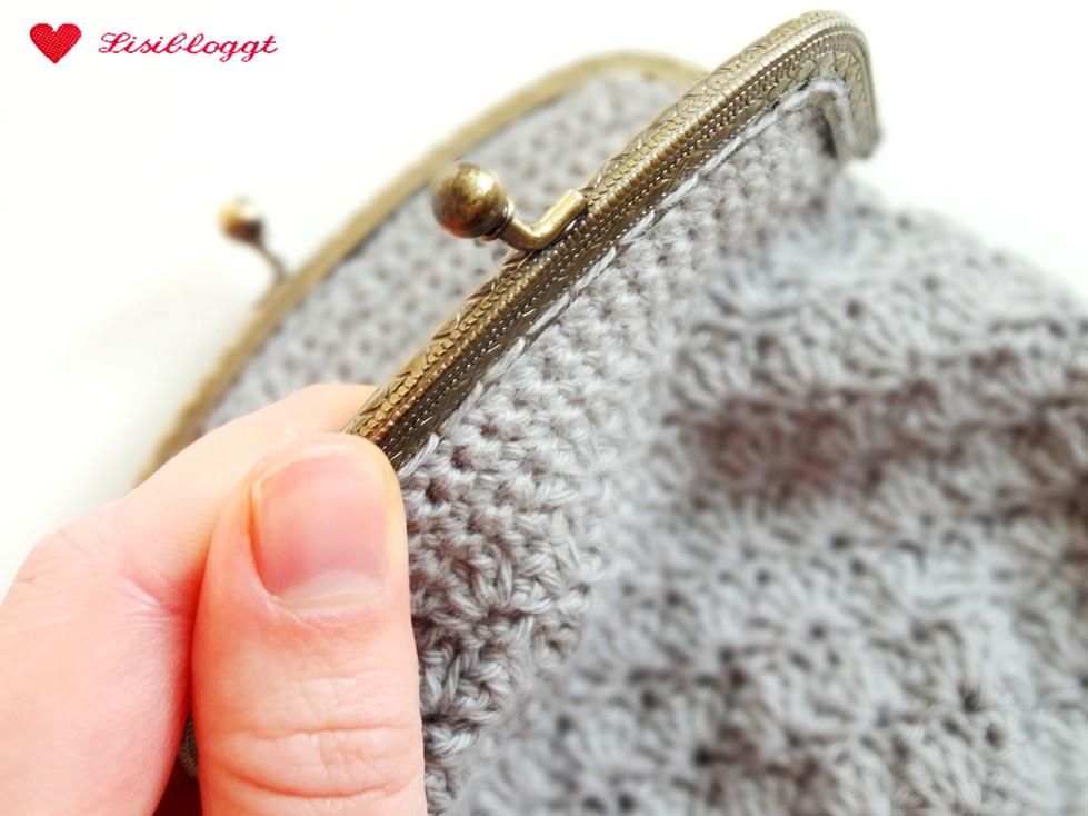 Anleitung: Einfache Geldbörse mit Muschelmuster häkeln | Lisibloggt