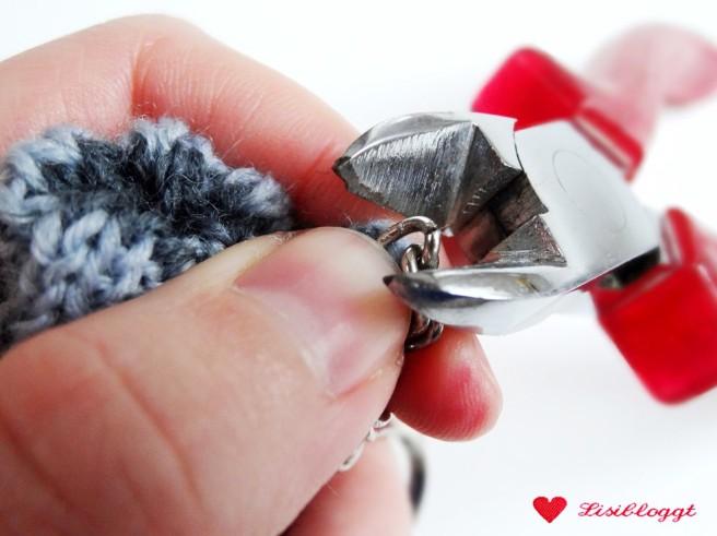 Anleitung: Mini-Socken Schlüsselanhänger stricken