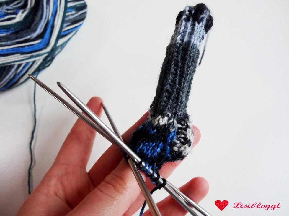 Anleitung Mini Socken Schlüsselanhänger Stricken Lisibloggt