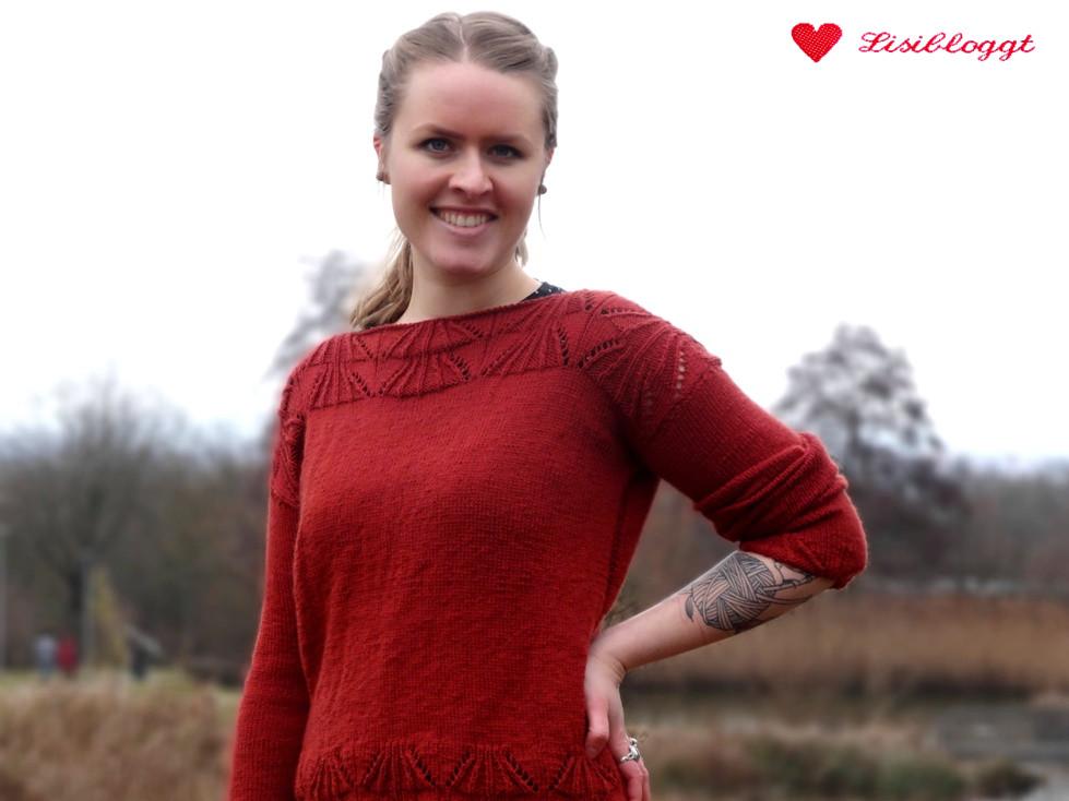 Anleitung Einfachen Pullover Mit Ajourmuster Stricken Lisibloggt