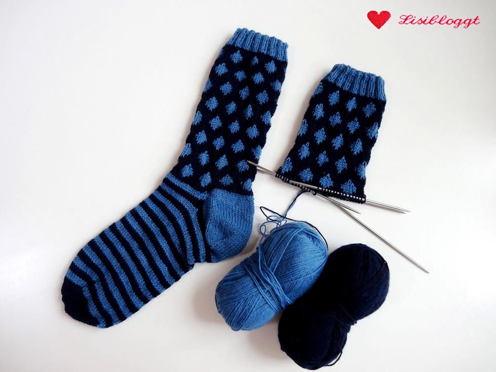 Anleitung Punkte Streifen Socken Mit Einfachem Muster Stricken