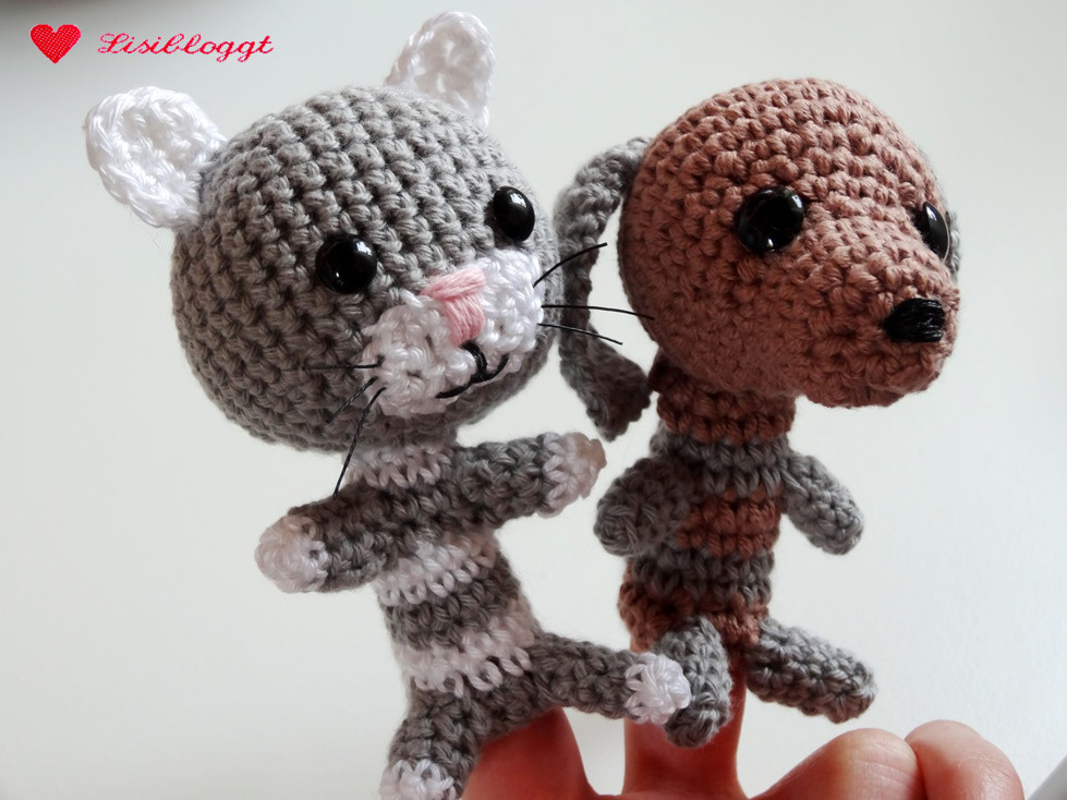 Anleitung Fingertierchen Katz Und Hund Häkeln Lisibloggt