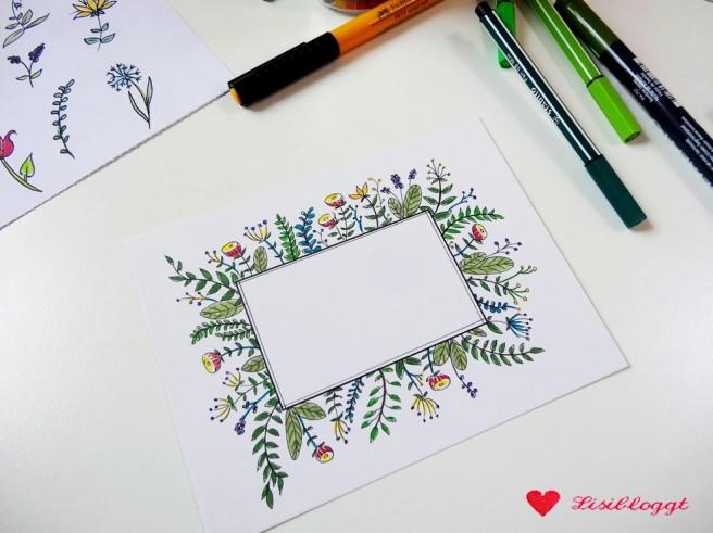 Anleitung: Handlettering-Karten mit Blumen
