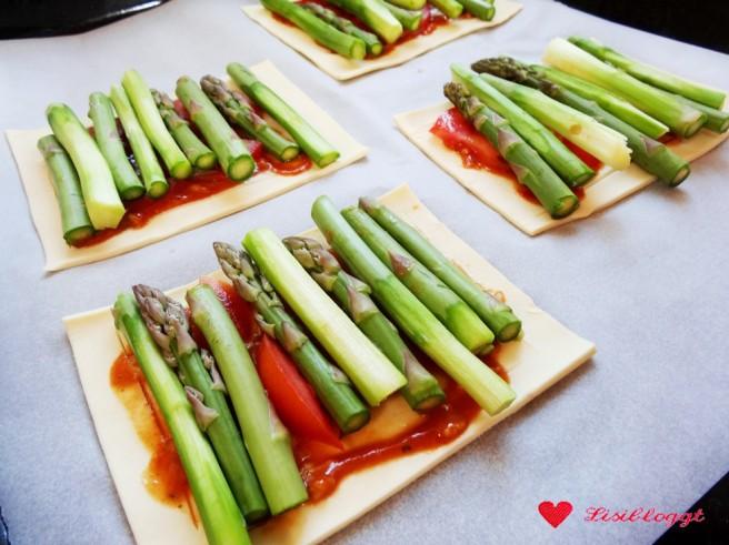 Rezept: Einfache vegane Spargel-Tartelettes