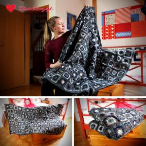 Anleitung: Grannysquare-Decke aus Wollresten häkeln