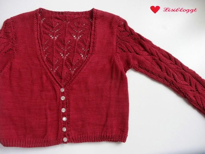 Anleitung: Zartes Baumwoll-Jaeckchen mit Ajourmuster stricken