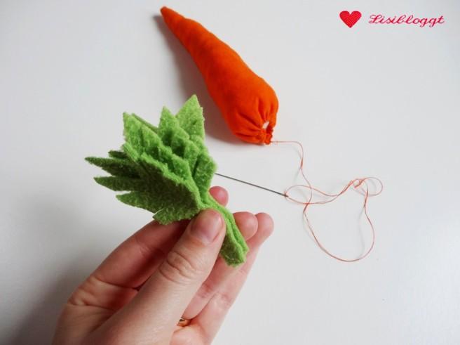 Anleitung: Karotten für den Kaufladen naehen