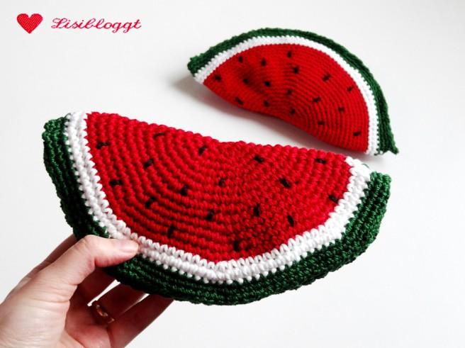 Anleitung: Wassermelone fuer den Kaufladen haekeln