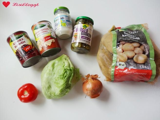 Rezept: Vegane Bean-Burger mit Kartoffel-Wedges