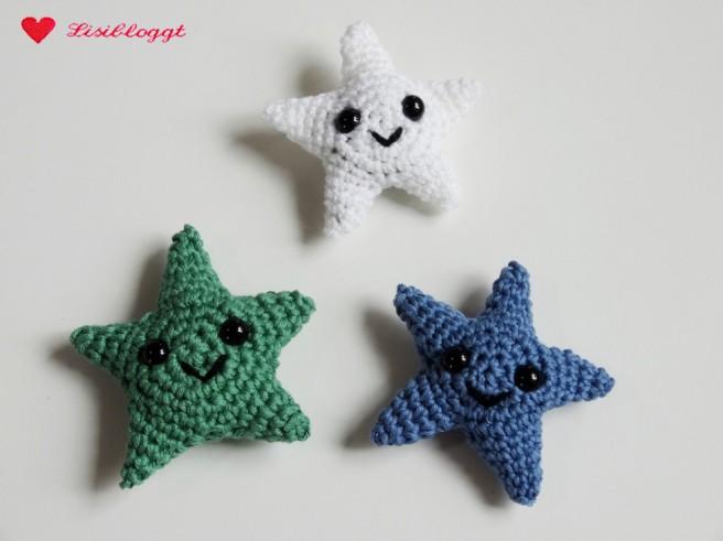 Anleitung: Amigurumi-Sterne haekeln